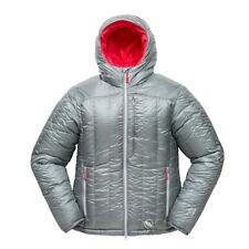 Big Agnes Womens Down Jacket Hooded Last Chance Belay Parka Grey Size Medium