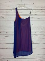 Judith March Anthropologie Women's L Large Blue Orange Cute Spring Summer Dress