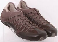 Tsubo V21-01 Yooto Brown Bicycle Toe Leather Lace-Up Sneaker Shoes Men's US 13