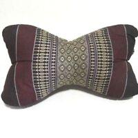 Thai Pillow Dog Bone Shaped Neck Yoga Cushion Craft Kapok100% filled Cotton