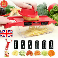 Mandoline Slicer 6 Blades Fruit Vegetable Potato Onion Carrot Grater Chopper