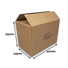 "Pack of 40 Medium Boxes 16"" x 9"" x 12"" Single Wall 400mm x 235mm x 305mm"