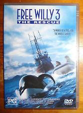 SECOND HAND FREE WILLY 3 MOVIE FILM DVD TV
