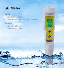 Auto Calibration Digital PH Tester Meter Pen For Hydroponic Aquarium Pool Water