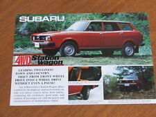 1977 Subaru 4wd Station Wagon original double sided single page brochure