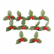 DIY Wedding Flowers Leaves Artificial Holly Berries Leaf Party Decoration 10X