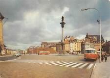 Poland Warszawa Plac Zamkowy Busses Auto Cars Statue