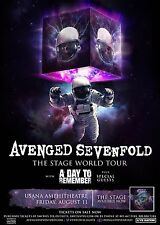 "AVENGED SEVENFOLD ""STAGE WORLD TOUR"" 2017 SALT LAKE CONCERT POSTER - Heavy Metal"