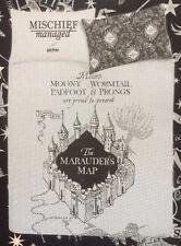 Harry Potter Black & Grey Reversible Single Duvet Set Primark Marauders Map