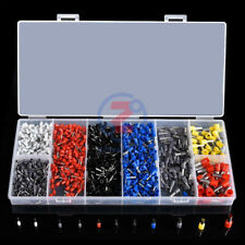 1200Pcs Assorted Electrical Wire Terminals Set Insulated Crimp Connector Kit Box