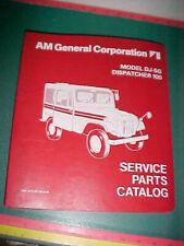Am General Dj-5G Dispatcher 100 Jeep Illustrated Service Parts Catalog xlnt 3-79