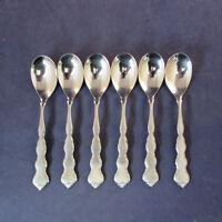 SET OF SIX - Oneida Stainless VALERIE Ice Cream Spoons * DISTINCTION