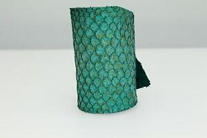Tilapia Fish Skin Hide Glitter Metallic Leather Craft Supply 8 Colors ETA 1wk