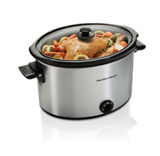 Hamilton Beach Slow Cooker 10 Quart Large Crock Pot Stoneware Kitchen Appliance