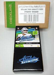 Absolute NFL Football Dollar Tree Gravity Feed 2020 Box 48 Packs - Sealed Box