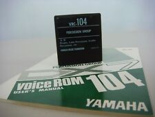 YamahaDX7 - VRC-104 Percussion Group DX Synthesizer Voice ROM Cartridge & Book