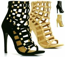 Women's Casual Stiletto Strappy Synthetic Leather Sandals & Beach Shoes