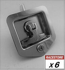 Folding T Handle Lock (6 PACK - STUD Fix) Camper Trailer Toolbox Truck 4x4 4WD