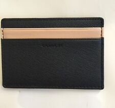 NWT Coach Saffiano Leather Slim Card Case F74772