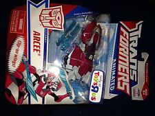 TRANSFORMERS ANIMATED Deluxe G1 Deco Autobot Arcee New Misb Toysrus Exclusive