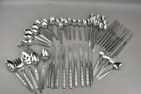 Oneida Distinction Lisbon Stainless Steel Flatware Forks Spoons 59 Pieces MCM