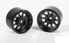 "Deep Dish Wagon 1.55"" Stamped Steel Beadlock Wheels BLACK Z-W0281 RC4WD TF2"