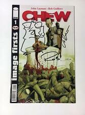 CHEW 1 IMAGE FIRSTS SIGNED BY JOHN LAYMAN & ROB GUILORY w/ SKETCH REMARKED SDCC