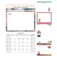 2020 Monthly Memo Board Wall Calendar Family Organiser White Board With Pen