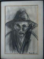 Benito c1910 Paris. Charcoal Portrait of a Man