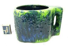 RARE 70´s Roth céramique Flowerpot with integral Handle 2200 Lava Glaze pattern 1