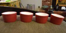 4 Ramekins Set Porcelain Clay Emeril Professional oven, freezer & microwave safe