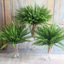 Artificial Plants Lifelike Large Fake Boston Fern Plant Green Grass Decor OqRnV