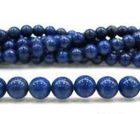 "10mm-Natural-Sapphire-Blue-Jade-Round-Gemstone-Loose-Beads-15"""
