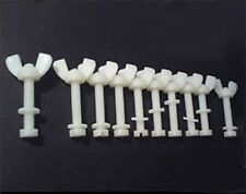 10 Nylon Screw Sets M6 Wing Nut, Washer & Hexagon Hex Head Bolt 50mm Length