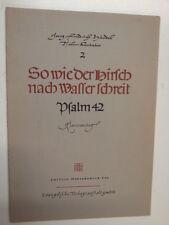 VOCAL SCORE Handel Salmo 42 così wie der HIRSCH nach WASS