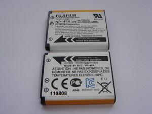Batterie D'ORIGINE FUJI Olympus NP-45A GENUINE battery AKKU ACCU mju 1060 FE-310