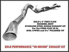 "2011 - 2014 Ford F-150 Cat Back Kit 5.0L 4"" Single exhaust 145"" Wheel Base"