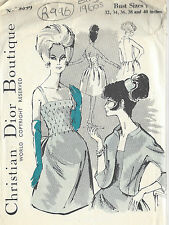 1960s Vintage Couture Motif B36 ROBE & VESTE (R996R) By Christan Dior
