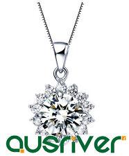Short Necklace Wedding Party Silver Chain Synthetic Diamond Snow Bride