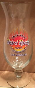 "Hard Rock Cafe LOS ANGELES ""1971-1996 25 Years of rock"" HURRICANE GLASS 9"" Tall"