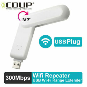 EDUP Wireless Range Extender USB WiFi Repeater Signal Booster Amplifier 300Mbps