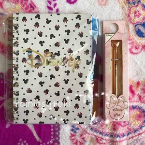 PRIMARK Disney Minnie Mouse Notebook Pads Pen Set Stationary  Mickey