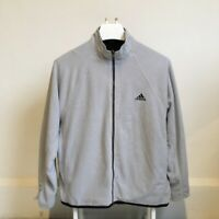 ADIDAS Fleece Jacket - Size S/M - Black & Grey - Reversible - A1