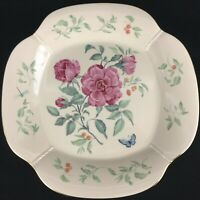 "Large Round Serving Platter 14"" by Lenox Morningside Cottage Florals Butterflies"