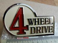 Toyota Land Cruiser 40 Rear Emblem 4 Wheel Drive