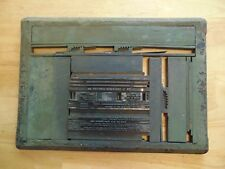 Antique CastIron Printing Press Block Letterpress Funeral Home Death Certificate