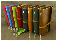 Portable Leaves Leather Notebook Refillable Diary Personalized Sketchbook Green