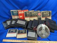 20 Reel to Reel Tape Lot Used-Blank Scotch Memorex Sony 3m RCA VTG