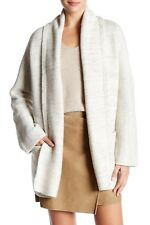 NEW Vince Wool Blend Knit Car Coat in Winter White - Size S