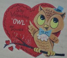 "Valentine Gift Tag ""Say Valentine OWL Be Yours!"" 2.5"" x 2.5"" Owl Theme"